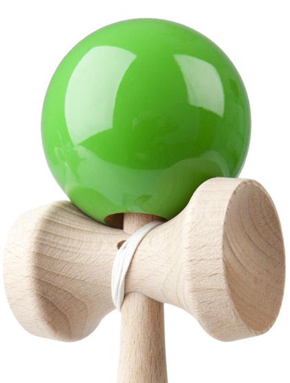 Kendama Play Green Closeup