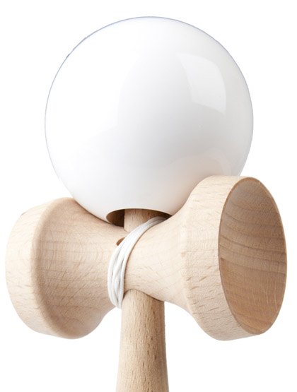 Kendama Play White Closeup