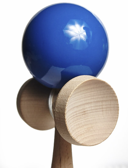 KDUK Union Kendama Dark Blue Closeup