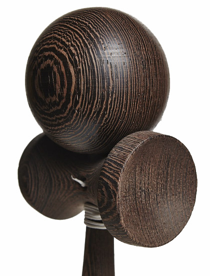 Kendama Union Dark Wood Closeup