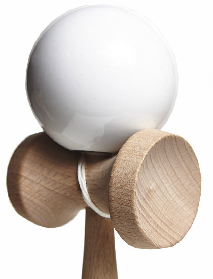 Kendama Union White Closeup