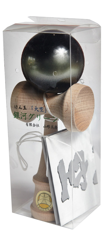 Kendama Ozora Galaxy Green Packaging
